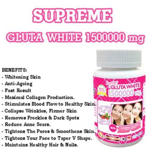 Supreme Gluta White 1500000 mg